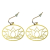 Lotus 18K Gold Plated Earrings