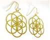 ER-14 Seed Of Life Earrings Gold Plated