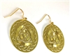 ER-15 Celtic Triquetra Earrings Gold Plated