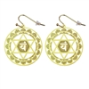 ER-16 Heart Chakra Earrings Gold Plated