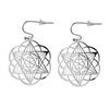 Star of David/ Seed of Life earrings silver plated