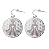 Yoga Silver Plated Earrings