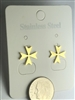 ER-GMC11 Gold Plated Stainless Steel Maltese Cross Earrings