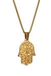 G-HP Gold plated Hamsa Pendant with Chain
