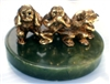 "The Three Wise Monkeys - Hear No Evil, Speak No Evil, See No Evil - 1.5"" tall - 24KT Gold-Plated Figurine (GF-07)"