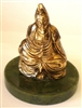 Quan Yin (Seated) - 24KT Gold-Plated Figurine (GF-18)