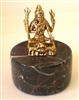 Shiva (Seated) 24KT Gold Plated Figurine (GF-19)