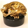 "Chinese Kundalini Dragon - 2"" tall - 24KT Gold-Plated Figurine (GF-23)"