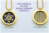 Flower Of Life/Metatron Aroma Therapy Double Sided Pendant