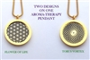 Flower Of Life/ Torus Vortex Aroma Therapy Double Sided Pendant