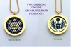 Metatron/ Scarab Aroma Therapy Double Sided Pendant