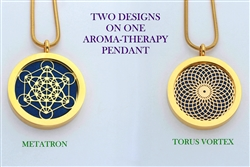 Metatron/ Torus Vortex Aroma Therapy Double Sided Pendant