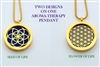 Seed of Life/ Flower of Life Aroma Therapy Double Sided Pendant