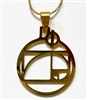 Golden Ratio pendant gold plated stainless steel