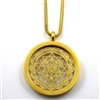 GGYANP-10 Gold Plated Stainless Steel Shree Yantra Pendant with Chain