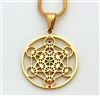 Metatron pendant gold plated stainless steel