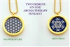 GS-FOL-Met  Flower Of Life/Metatron Aroma Therapy Double Sided Pendant