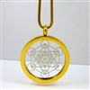 GSMETP-12 Gold Plated Stainless Steel Metatron Pendant with Chain