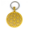 Flower Of Life Gold Plated Stainless Steel Keyring