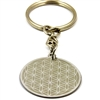 Flower Of Life Stainless Steel Keyring