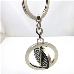 Blessings,Prosperity and Good Luck Stainless Steel Keyring