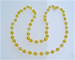 MA-05 GOLD PLATED WIRE WRAP CITRINE MALA