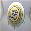 OM 18KT GOLD PLATED LASER CUT ORNAMENT WITH OIL PRINTED IMAGE