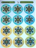 MS-2 Colorful Metatron Multi-Stickers