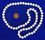 Astrological white coral necklace