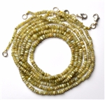 Natural Chrysoberyl Cats Eye Necklace 18 inches