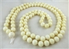 astrological 108 bead white coral mala