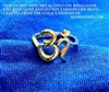 ROM-10 - AUM (OM) RING in 9 Metal Combination Gold: Size 7