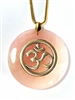 Rose Quartz Sacred Geometry Stone Pendants