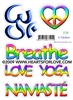S-39 Om - Peaceful Heart - Breathe - Love Yoga - Namaste
