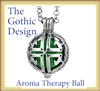Stainless Steel Gothic Aroma Therapy Ball Necklace