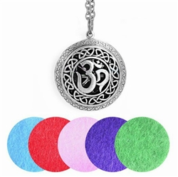 Antique Silver Om Aroma-Therapy Locket Pendant