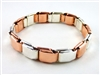 SCB-01 Pure Copper & Pure Silver Spring Link Bracelet