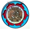 18 karat gold plated shree yantra stained glass mobile