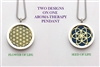 Seed and Flower of Life Aroma Therapy Double Sided Pendant