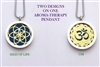Seed of Life/ OM Aroma Therapy Pendant