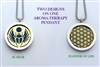 Scarab/ Flower of Life Aroma Therapy Pendant