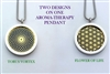 Torus Vortex/ Flower of Life Aroma Therapy Double Sided Pendant