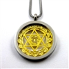 SGHCP-27 Silver and Gold Plated Stainless Steel Heart Chakra Pendant with Chain