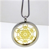 SGMETP-22 Silver and Gold Plated Stainless Steel Metatron Pendant with Chain