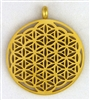 flower of life pendant gold plated