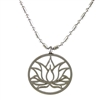 lotus pendant in stainless steel