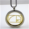 SGTGRP-25 Silver and Gold Plated Stainless Steel The Golden Ratio Pendant with Chain