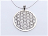 SP-12-FOL Large Stainless Steel Flower of Life Pendant