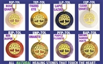 Tree of Life Sacred Geometry Circular Stone Pendants