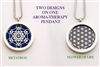 SS-FOL-Met Flower Of Life/Metatron Aroma Therapy Double Sided Pendant